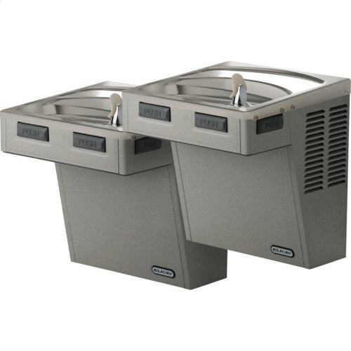 Elkay Wall Mount Bi-Level Reverse ADA Cooler, Non-Filtered 8 GPH Stainless