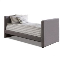 Balboa Complete Upholstered Daybed with Wood Slat Support System, Pebble Gray Finish, Twin