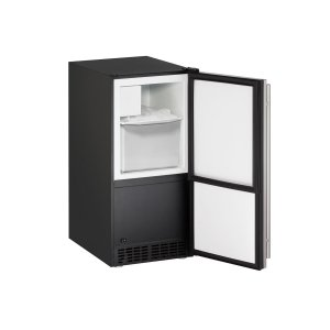 "U-LineAda Series 15"" Crescent Ice Maker With Stainless Solid Finish and Field Reversible Door Swing (115 Volts / 60 Hz)"