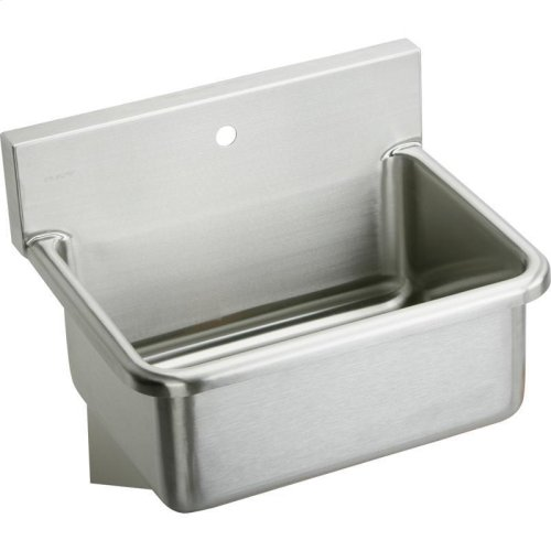 "Elkay Stainless Steel 31"" x 19.5"" x 10-1/2"", Wall Hung Single Bowl Hand Wash Sink"