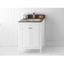 "Briella 24"" Bathroom Vanity Cabinet Base in White"