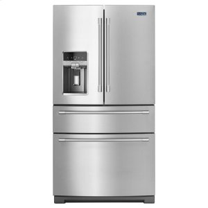 Maytag36-Inch Wide 4-Door French Door Refrigerator With Steel Shelves - 26 Cu. Ft.