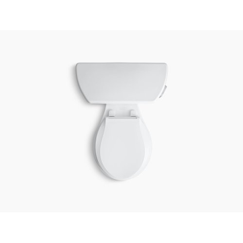 White Two-piece Round-front 1.28 Gpf Toilet With Class Five Flush Technology and Right-hand Trip Lever, Seat Not Included