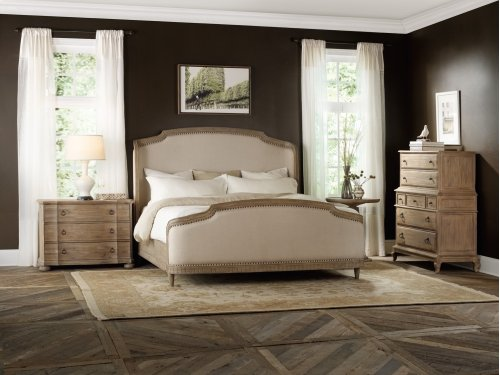 Bedroom Corsica California King Upholstery Shelter Bed