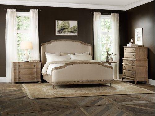 Bedroom Corsica California King Upholstery Shelter Bed