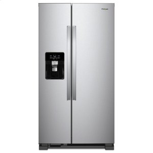 33-inch Wide Side-by-Side Refrigerator - 21 cu. ft. - MONOCHROMATIC STAINLESS STEEL