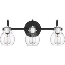 Andrews Vanity Light in Earth Black