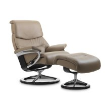 Stressless Capri Small Signature Base Chair and Ottoman