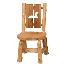 Cedar Cut-out Log Side Chair - Pine Tree