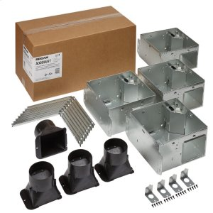 BroanFLEX Series Bathroom Ventilation Fan Light Housing Pack with Flange Kit