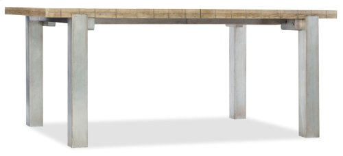 Dining Room Urban Elevation 72in Metal Leg Table w/2-22in leaves
