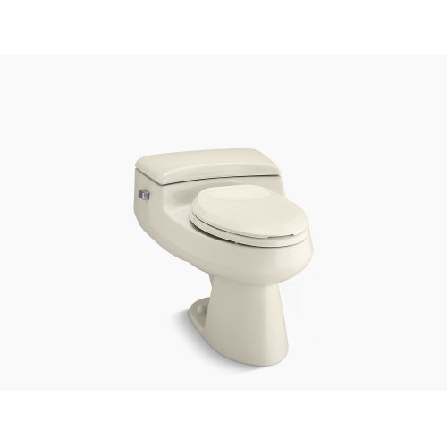 Almond Comfort Height One-piece Elongated 1.0 Gpf Toilet With Pressure Lite Flushing Technology and Left-hand Trip Lever