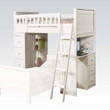 KIT - WHITE LOFT BED