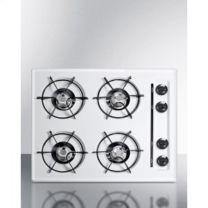 "Summit24"" Wide Cooktop In White, With Four Burners And Battery Start Ignition; Replaces Wtl03p"