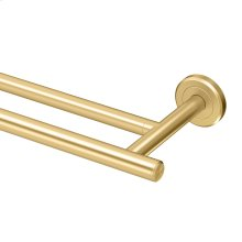 Latitude2 Double Towel Bar in Brushed Brass