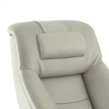 Mandal Cervical Pillow in Putty Top Grain Leather