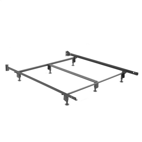 Inst-A-Matic Hospitality H761G Bed Frame with Fixed Headboard Brackets and (6) 2-Piece Glide Legs, Queen