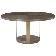 Profile Round Dining Table in Warm Taupe (378)