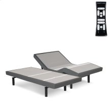 S-Cape 2.0 Adjustable Bed Base with Wallhugger Technology and Full Body Massage, Charcoal Gray Finish, Split King