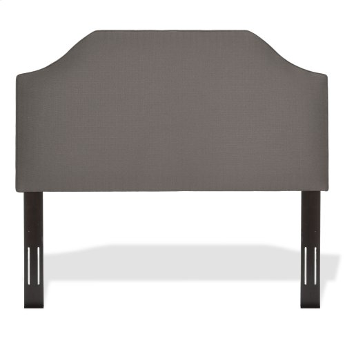 Bordeaux Upholstered Adjustable Headboard Panel with Solid Wood Frame and Sweeping Curve Design, Dolphin Finish, Twin