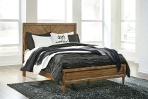 Broshtan - Light Brown 3 Piece Bed Set (Queen) Product Image