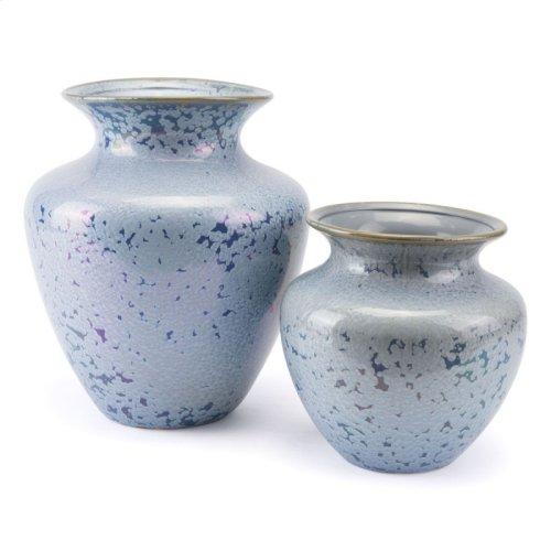 Crystal Blue Short Vase Blue