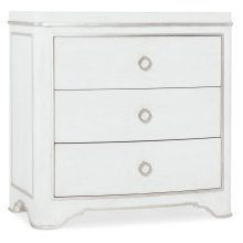 Bedroom Modern Romance Three-Drawer Nightstand