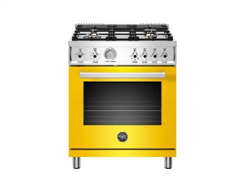 30 inch All Gas Range, 4 Brass Burner Yellow
