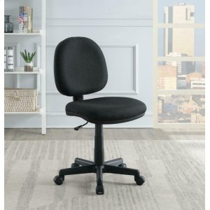 CoasterCasual Black Office Chair With Wheels