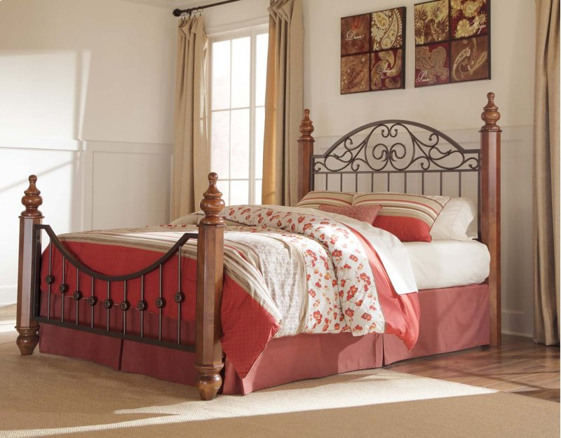 furniture in bethany mo wyatt reddish brown 3 piece bed set