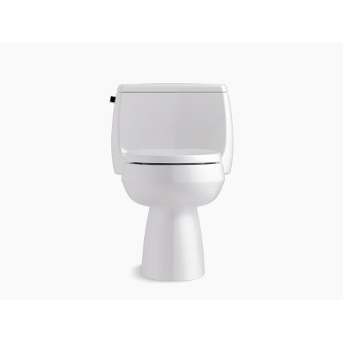 Biscuit Comfort Height One-piece Elongated 1.28 Gpf Toilet With Class Five Flushing Technology and Left-hand Trip Lever