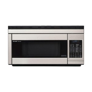 1.1 cu. ft. 850W Sharp Stainless Steel Over-the-Range Carousel Microwave Oven -