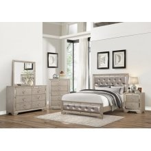 Angel 4PC Bedroom Set (BED, DRESSER, MORROW & NIGHTSTANDT) QUEEN