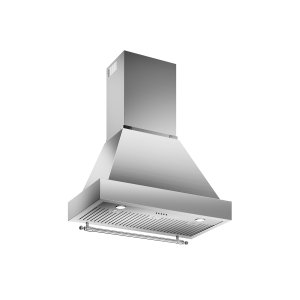 Bertazzoni36 Wallmount Canopy and Base Hood, 1 motor 600 CFM Stainless Steel