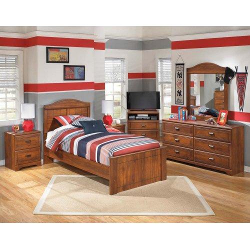 Barchan - Medium Brown 3 Piece Bed Set (Twin)