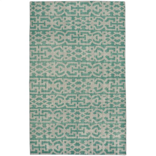 Vintage-Keeneland Green Hand Knotted Rugs