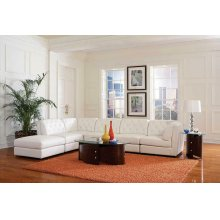 Quinn Transitional White Corner