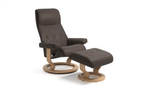 Stressless Sky Medium Classic Base Chair and Ottoman