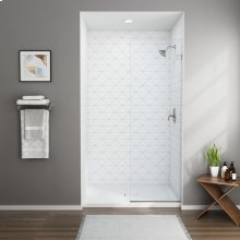 Frameless Shower Screen - 48 Inch  American Standard - Silver Shine