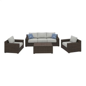Ashley Furniture Alta Grande - Beige/brown 4 Piece Patio Set