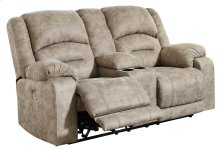 McGinty Greystone Power Reclining Loveseat with Adjustable Headrest