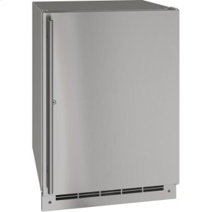 "U-LineOutdoor Collection 24"" Refrigerator With Stainless Solid (lock) Finish and Field Reversible Door Swing (115 Volts / 60 Hz)"