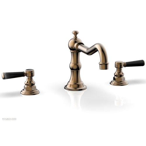 HENRI Deck Tub Set - Marble Lever Handles - 161-42 - Old English Brass