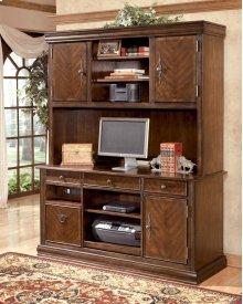 Home Office Tall Desk Hutch