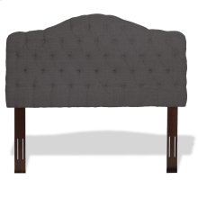 Moselle Button-Tuft Upholstered Headboard with Adjustable Height, French Gray Finish, King / California King