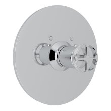 Polished Chrome Campo Thermostatic Trim Plate Without Volume Control with Metal Campo Wheel
