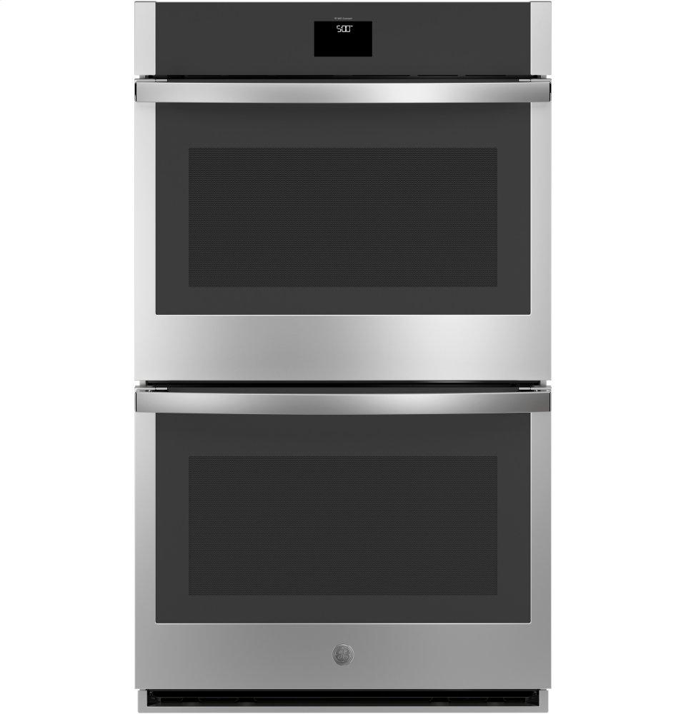 """GE30"""" Smart Built-In Self-Clean Convection Double Wall Oven With Never Scrub Racks"""