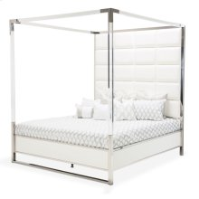 Cal King Metal Canopy Bed (4 Pc)