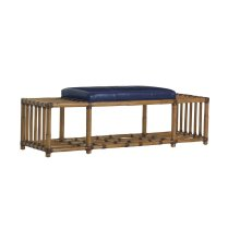 Seafarer Leather Bench