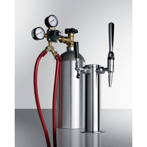 SummitDual Tap System With Nitrogen Tank To Serve Both Nitro-infused Coffee and Flat Iced Coffee From Most Beer Dispensers